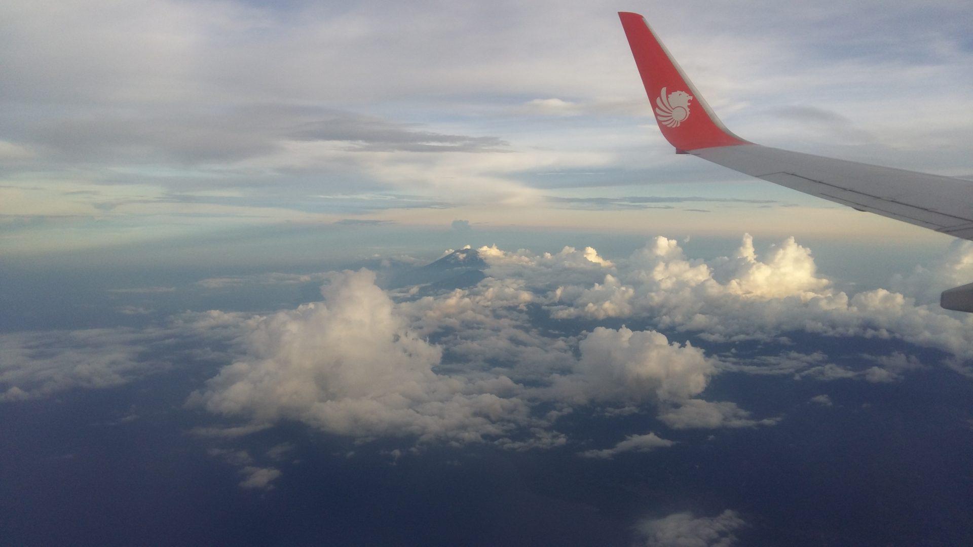 Anflug auf Bali